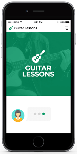 Guitar Lessons Chatbot Examples